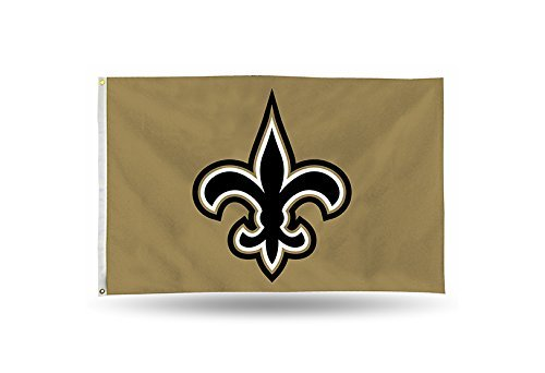Rico NFL New Orleans Saints 3-Foot by 5-Foot Single Sided Banner Flag with Grommets
