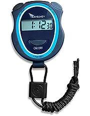 –Cronómetro digital (sin campanas, sin silbatos, Operación Simple Basic, silencioso, visualización transparente y on/off, niño con