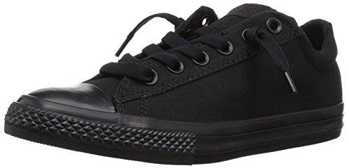 Converse Kids' Chuck Taylor All Star Street Ox (Little Big),Black Mono,4 M US Big Kid (All Star Black Ox Shoes)
