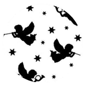 alfombrilla de ratón Navidad sin fondo con los ángeles, vector - ronda - 20cm