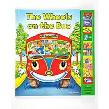 (The Wheels on the Bus Interactive Book Set -- Play-a-Song Book with Sound Buttons and School Bus Craft Activity)