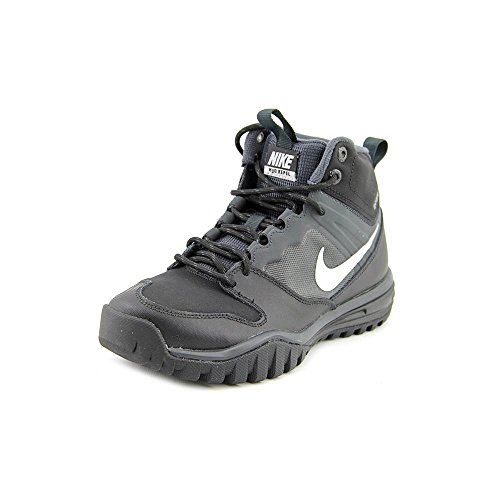 Nike Boys Dual Fusion Hills Mid Boot (GS) Black/Anthracite/Metallic Silver 6.5Y