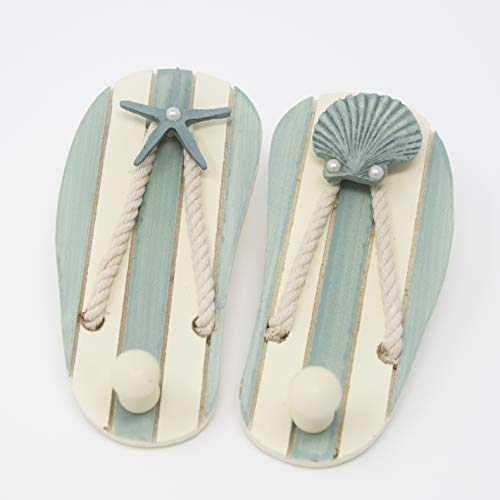Tumbler Home | Shabby Chic Sandal Hooks with Pearl Drop Embellishments | 6'' x 3