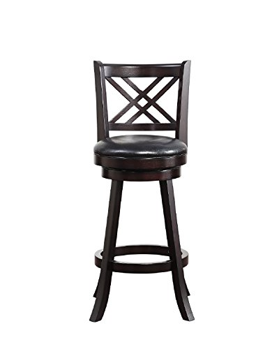Boraam 65629 Porto Bar Height Swivel Stool, 29-Inch, Merlot - Merlot Bar Table