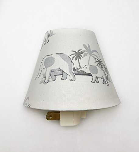 Mom and Baby Elephant Plug In Night Light / Nursery Decor / Baby Shower Gift / Home Decor / Kid's Room / Lighting / Hallway Light / Housewarming / Safari