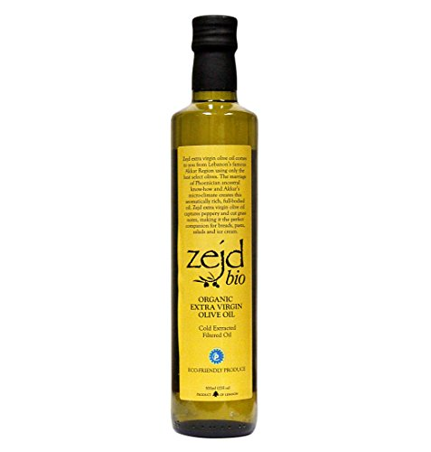 Zejd Organic Extra Virgin Olive Oil (Best Lebanese Olive Oil)