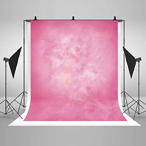 COMOPHOTO Oil Painting Pink Texture Photography Backdrop Polyester Abstract Retro Portrait Background for Photo Studio - Painting Background Oil