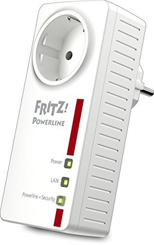 AVM FRITZ! Powerline 1220E Adapter (1.200 MBit/s, 2 x Gigabit-LAN, ideal für NAS-Anwendungen und HD-Streaming)