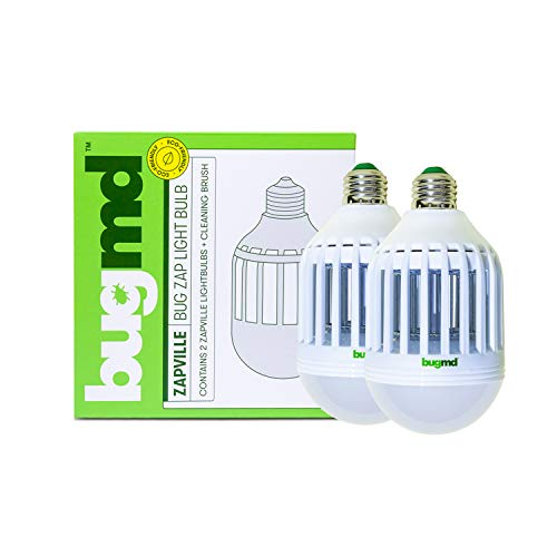 bugmd Zapville Bug Zapper Indoor UV and LED Light Bulb Attracts Mosquitos Insects Bugs Electric Chemical-Free Nontoxic…