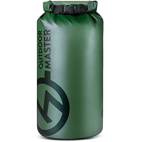 OutdoorMaster Dry Bag Seal - Waterproof Floating Roll Top Dry Sack for Boating, Kayaking, Fishing, Swimming, Surfing, Rafting - Forest Green-Big Logo, 40L