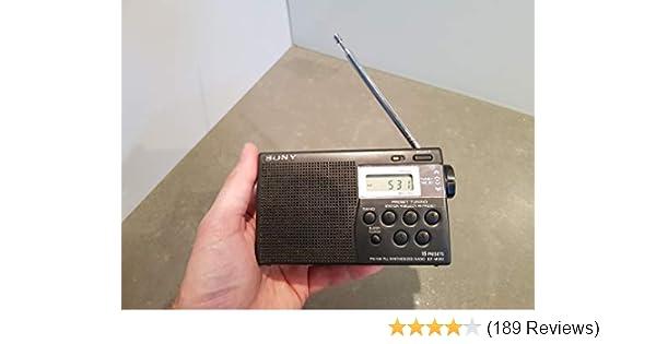 Sony ICF-M260 AM//FM PLL Synthesized Clock Radio with Digital Tuning /& Alarm