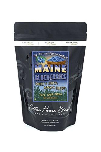 Rangeley, Maine - Blueberry Farm - Vintage Sign (8oz Whole Bean Small Batch Artisan Coffee - Bold & Strong Medium Dark Roast w/ Artwork) by Lantern Press