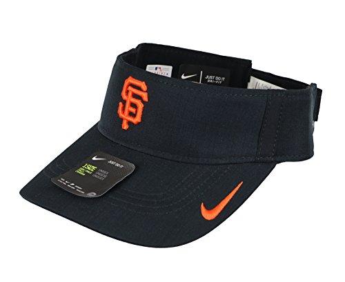 - NIKE Men's San Francisco Giants AeroBill Vapor Visor One Size Black Orange