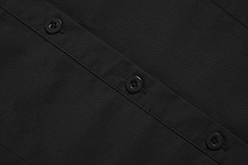 Femme et Unibelle Casual Blouse Coton Noir 100 Business ou Femme Longues Manches Chemisier SrxxqIE