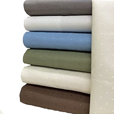 King Size 600 TC Egyptian Cotton Blend Wrinkle Free Woven Dots Sheet Sets (Gray)