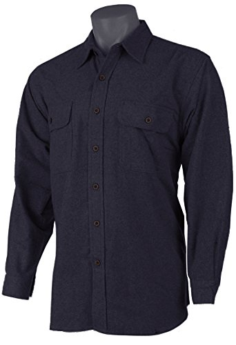 Moose Creek Men's Trooper Chamois Heavy Weight Button Down Shirt,X-Large,Steel