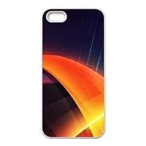 For Iphone 6 Plus Phone Case Cover Futuristic Orange Layers Illustration Hard Shell Back White For Iphone 6 Plus Phone Case Cover 336972