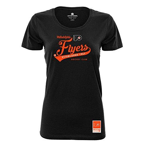 NHL Philadelphia FLYERS Ladies Capital Script Short sleeve Tee, X-Large, (Script Short Sleeve Tee)
