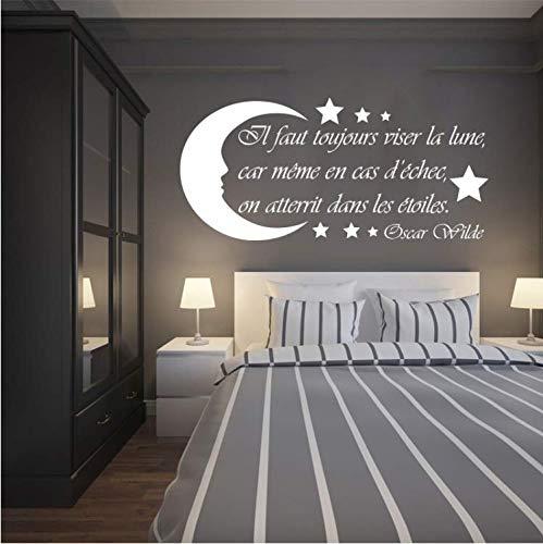 (WANGYW Sweet Dreams Wall Decal Teepee and Fox Wall Sticker DIY Pattern Kids Room Decor Moon and Stars Design Vinyl Wall Murals)