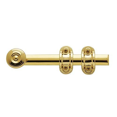 - Baldwin Estate 0379.030 Ornamental Heavy Duty Surface Bolt in Polished Brass, 6