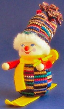 Downhill Skiier - Steinbach Christmas Tree Ornament