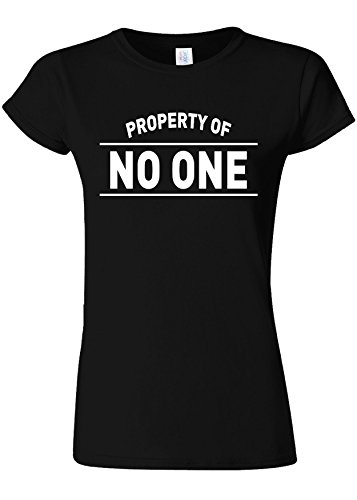 ぬいぐるみ一般血色の良いProperty Of No One Novelty Black Women T Shirt Top-L
