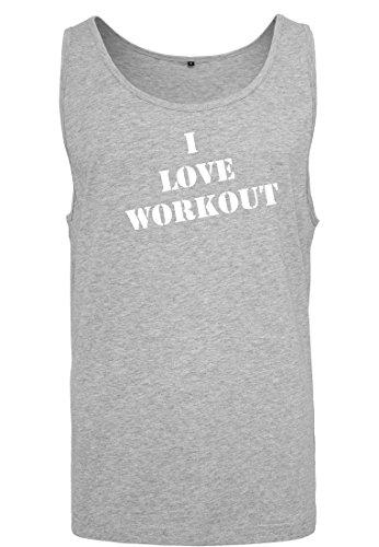 Canotta Maglia Uomo Tank maniche Muscle senza Workout Heather Love Big 2store24 I Shirt shirt T Grey 4pdwq5x0