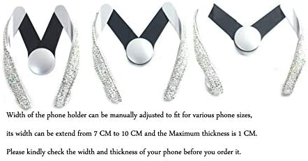 Bestbling Luxury Fashionable Convenient Bling Rhinestone Crystal Car Dash Air Vent Slip-On ADJUSTABLE Phone Holder for Easy View GPS Screen Black M holder