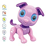 Xindda Electronic Pets Dog Toy, Interactive Smart Puppy Robotic Dog LED Eyes Feeding Function Cute...