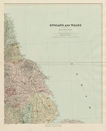 Map Of England Lincolnshire.Amazon Com North East England Tyneside Yorkshire Lincolnshire