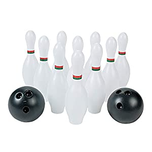 Kids Bowling Set 10 Plastic Pins and 2 Balls – Fun Toys and Games