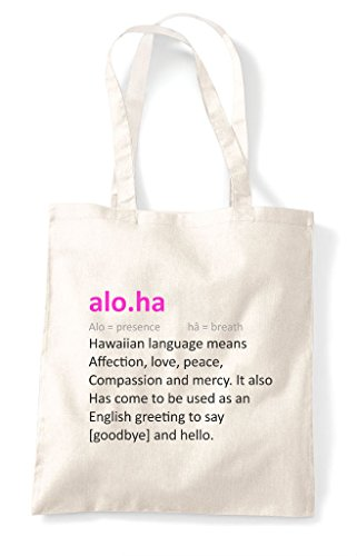 Aloha Bag Tote Natural Funny The Shopper Alternative In Dictionary Definition Not 84r8aqFw