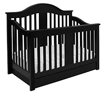 Million Dollar Baby Classic Cameron 4 In 1 Convertible Crib, Ebony  (Discontinued