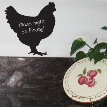 (ROOSTER Chicken Hen Chalkboard Vinyl Wall Sticker)