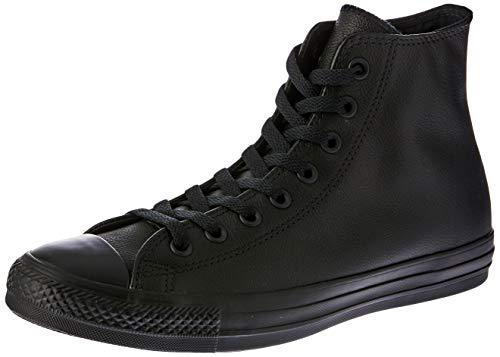 Converse  Chuck Taylor All Star Leather High Top Shoe, Black Mono, 9 B(M) US Women / 7 D(M) US Men (Converse Women Leather)