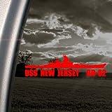 BB 62 USS New Jersey Battleship Red Decal Car Red Sticker