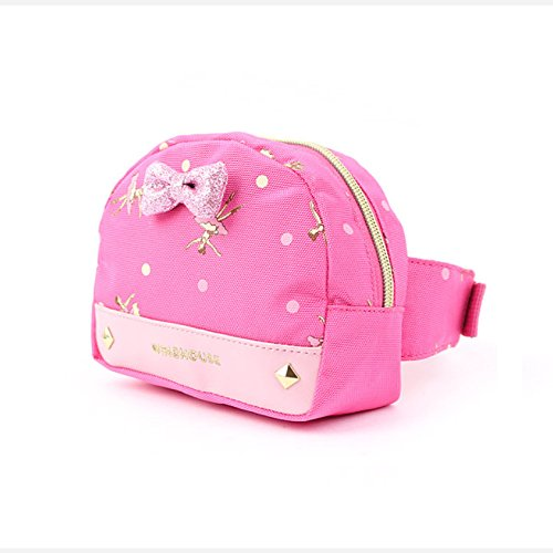 Waist Fanny Hip Pack Bag for Kids, Children, Girls (Wing Girls Daine-Pink)