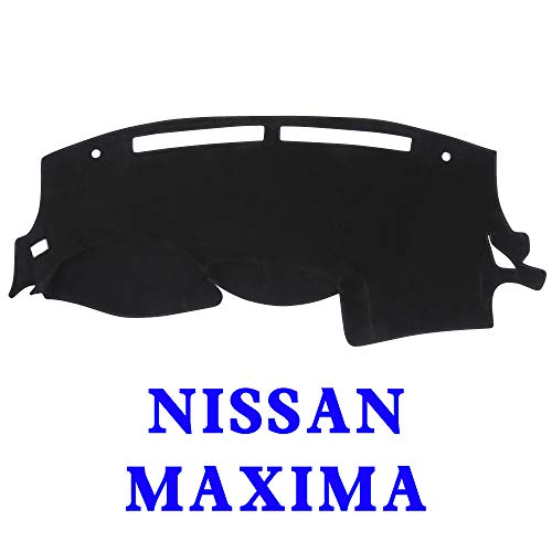 JIAKANUO Dash Cover Fit for Nissan Maxima 2009-2015,Dashboard Mat Sunshield Protector Pad Non-Slip,Extra Thick, Anti-Glare (Maxima 09-15, Black MR-009) (Cover Pad Non Slip)