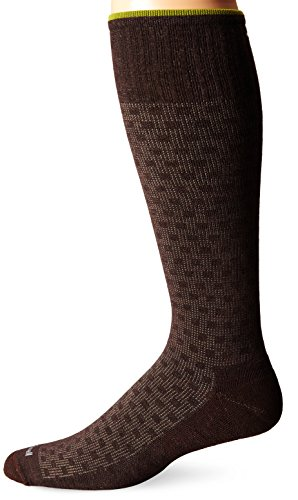 Sockwell Men's Shadow Box Socks, Espresso, Medium/Large