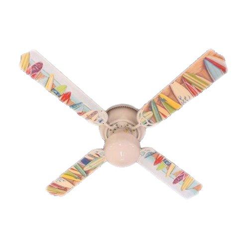 Ceiling Fan Designers Ceiling Fan, Hawaiian Surfboards, (Designer Hugger Fan)