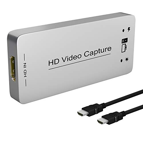 HDMI Capture Dongle Adapter Card, HDMI to USB 3.0, Full HD 1080p 60FPS Live Streaming Game Capture Video Grabber for PS4 Xbox One 360, Drive-Free Compatible with Linux/Mac OS/ windows10/7/xp, DIGITNOW