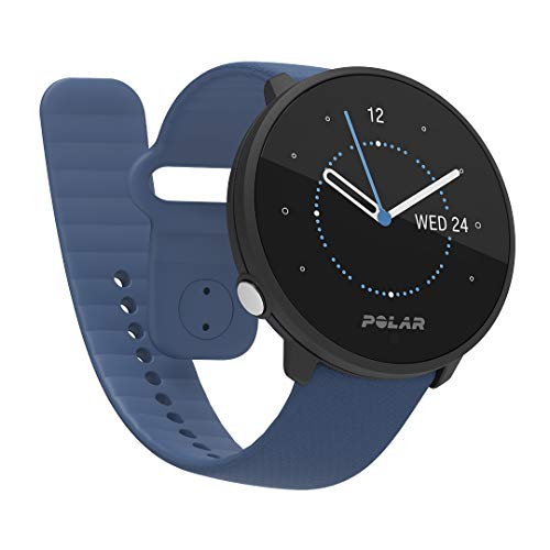 Polar Unite - Fitness Watch Resistente al Agua para Hombre y Mujer con GPS Vía Móvil, Registro del Sueño y la Recuperación, Guía de Entrenamiento Diario y Registro de FC en la Muñeca, Azul