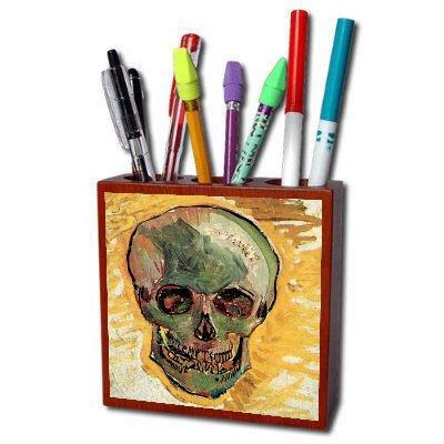 Skull By Vincent Van Gogh Pencil Holder