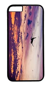 MOKSHOP Adorable Boeing 747 airliner plane sunset Hard Case Protective Shell Cell Phone Cover For Apple Iphone 6 (4.7 Inch) - PC Black