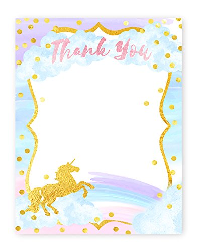Amazon Com Magical Unicorn Thank You Cards 10 Cards 10