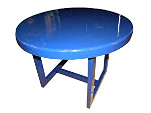 Ofab Custom Theme Tables 42-Inch Round Restaurant Table, Blue