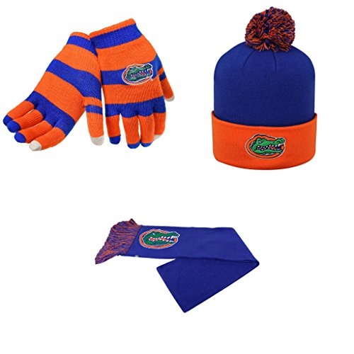 ncaa-florida-gators-team-logo-scarf-pom-beanie-hat-and-glove-stripe-knit-3-pack-bundle