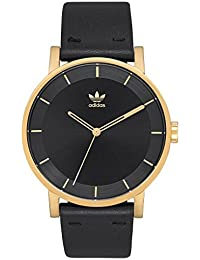 Watches District_L1. Genuine Leather Strap Watch, 20mm Width (Gold/Black/Sunray · adidas