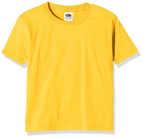 Fruit of the Loom Jungen T-Shirt SS124B, Gelb-Yellow (Sunflower Yellow), 10-11 Jahre
