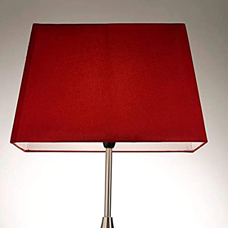 Paralume Rettangolare Per Lampada Da Tavolo Rosso Metallo Red 15 Table Lamp Shade Amazon It Illuminazione